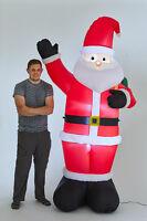 Inflatable 240cm waving SANTA Light Up Christmas Decoration Outdoor Festive 1062