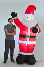Inflatable 240cm waving SANTA Light Up Christmas Decoration Outdoor Festive 1062