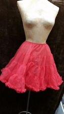 Vintage 1950's Red Nylon & Lace Double Layer Petticoat Size Small Medium