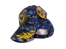 US Navy Seal Emblem Shadow Feather Eggs Blue ACU Desert Digital Camo Cap Hat