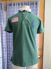Mens Ralph Lauren Big Pony Green SS Custom Fit Rugby Shirt NWT $125 S Small