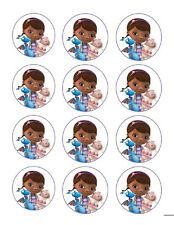 Doc McStuffins edible party cupcake toppers decoration 12/sheet