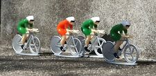 4 Pc Cyclists Set - 4 Riders / Bicycles 1/24 Scale G Scale Diorama Accessories