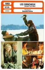 FICHE CINEMA : LES GRINCHEUX - Lemmon,Matthau,Ann-Margret 1993 Grumpy Old Men