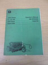 John Deere Ll, Lz, Hz Unit Press Grain Drill Operators Manual-Part No. Omn159295