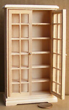 1:12 Scale Natural Finish Wooden Book Cabinet Tumdee Dolls House Miniature 26