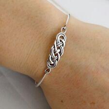 Celtic Knot Bangle Bracelet - 925 Sterling Silver - Infinity Love Bracelets NEW