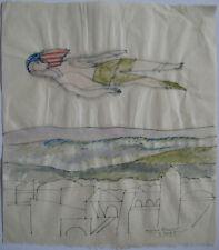PAPART MAX DESSIN PAPIER ENCRE AQUARELLE 1985 SIGNÉ MAIN HANDSIGNED INK DRAWING