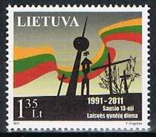 Litouwen postfris 2011 MNH 1054 - Televisie Toren van Vilnius
