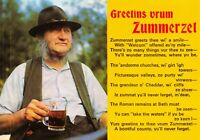 Postcard Greetins Vrum Zummerzet, Greetings from Somerset Verse Poem 40X