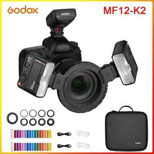 Godox MF12 K2 2.4GHz Wireless Macro Flash Light Speedlite For Canon SONY Cameras