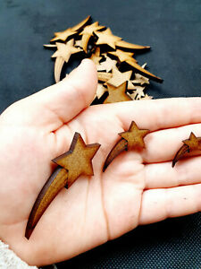 SHOOTING STARS craft decoration project colouring scrap booking cards MDF shapes