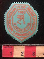 Vtg 1983 Patch Canada Hunt Fish Club Chasse et Pêche LaRochelle d'Asbestos 60B