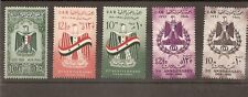 Egypt & Syria stamps: First, Second and Third Annv.of U.A. - Issue 1959-1961 MNH