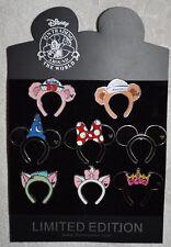 Disney pin HKDL Hidden Mickey ears headband set of 8 pins Complete Mickey Minnie