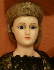 """23"""" German Wax Fashion lady Staatdamen with unique painted gloves and boots Rare"""