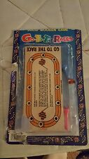 Wooden Peg Race Game Go to the Races Vintage New in Package
