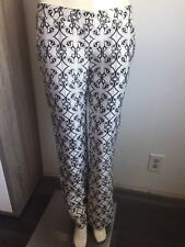 Thomas Wylde Silk Cotton Blend Calla Lily Print Floral Pants Slightly Flared S