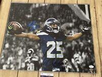 Richard Sherman Autographed/Signed 16x20 Photo COA Seattle Seahawks
