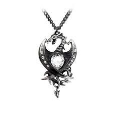 AE P609 Diamond Heart Dragon Pendant - Set with 11 Swarovski Crystals