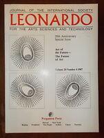 Journal Of The International Society Leonardo Flight 20 No 4 Pergamon Press 1987