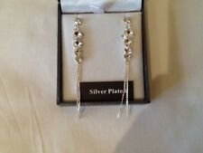 Equilibrium Earrings,silver plated,long diamante,new