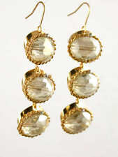 Three Tier Crystal Clear Bohemian Glass Drop Earrings 5105 Sale: Orig $65