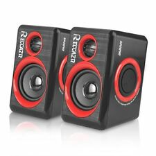 Surround Computer Speakers Deep Bass USB Wired Multimedia PC Laptops 3.5mm Jack