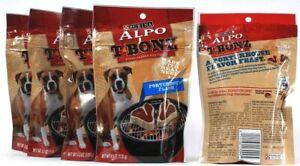 5 Purina Alpo T Bonz Steak Shaped Dog Treat Porterhouse Flavor 4.5 oz BB 11-2021