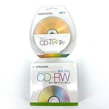 New Memorex 15 CD-RW Blank Discs 5 Cases