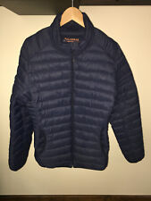 Pull and Bear Women's Ladies Navy Quilted Packable Jacket Size L Large