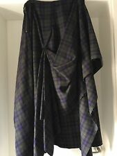 ALEXANDER McQUEEN ASYMMETRICAL PLAID SKIRT, Stunning On, Sz 44 EU Sz10/12 UK.