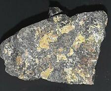 RARE Gummite (large amount) on Pitchblende, check source, uranium ore