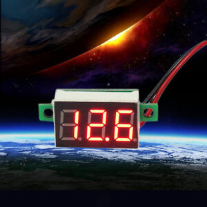 Mini Size LED Panel Voltage Meter 3-Digital LCD Display Adjustment Voltmeter SU