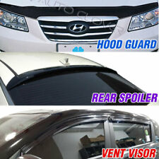 Hood Guard Vent Visor Rear Spoiler Molding For HYUNDAI 06-10 Sonata