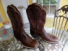 ARIAT 10011894 WOMEN'S MESQUITE BROWN LEATHER BOOTS SIZE 7 B COWBOY WESTERN BOOT