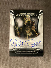 New ListingStar Wars 2019 Topps Masterwork A-Dt David Tennant As Professor Huyang Autograph