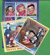 BETTY BOOP Souvenir Sheet Set + Sheet of 9 #2304 -06 MNH - Grenada & Gren. E56