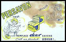 Buvard Publicitaire, PERSAVON - Remplace deux savons - Produit Lesieur