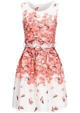 50% OFF B17048054 Damen Violet Kleid kurz Bindeband Rosenblättermuster weiß rosa
