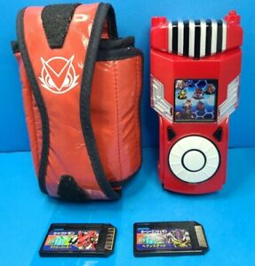2010 DIGIMON Xros Wars Xros Loader BANDAI Game console red w/case and 2 cards