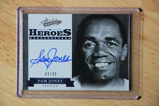 2012-13 Absolute Heroes Sam Jones Auto On Card/25