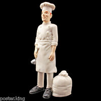 Restaurant Cooking Bakery Chef People Figure Painted Train Model 1:30 G Scale