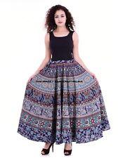 Indian Mandala High Waist Dress Skater Flared Pleated Swing Long Skirt Dress