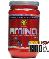 BSN AMINO X 1KG BLUE RAZZ 70 SERVE BCAA aminos bcaas recovery strength muscle