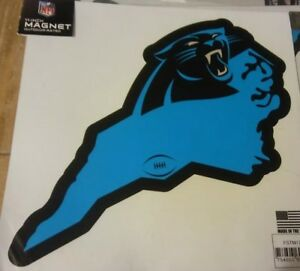 New 11 Inch NFL Carolina Panthers Magnetic Outdoor Rated Made In The USA