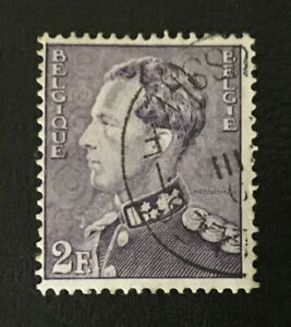 Belgium 1936-51 2f King Leopold III Definitive Violet Stamp
