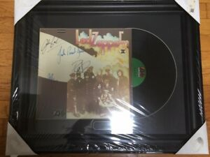 Led Zeppelin Autographed Record by All 4 with COA