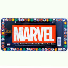 Marvel Heroes Car License Plate Frame Captain America Spiderman Iron Thor HulkLi