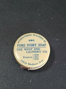 Vntg York Pa West End Laundry Ivory Soap Tape Measure